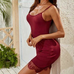 Dresses & Skirts - Sexy Red Lace Cami Nightdress